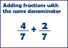 Fractions w. same denominators